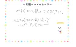 りんちゃんへのメッセージ
