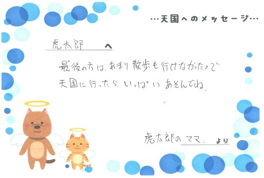 Kくんへのメッセージ